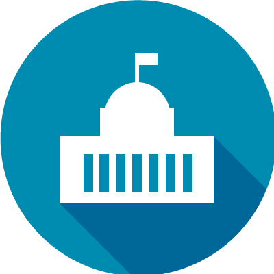 icon for washington dc of the state capitol building