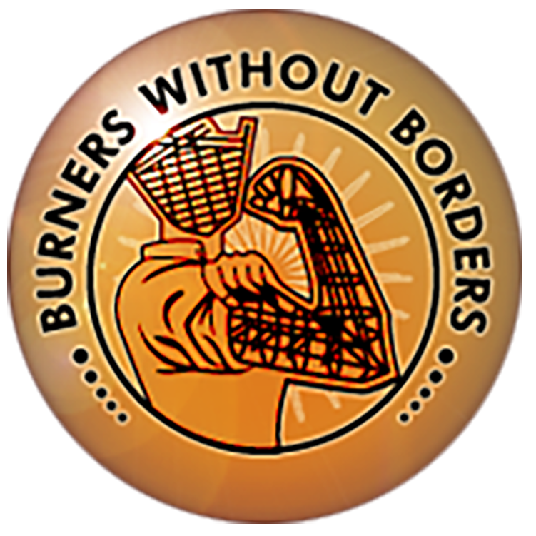 Burners Without Borders logo, Get Us PPE partner