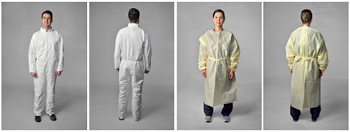 coverall and gown examples