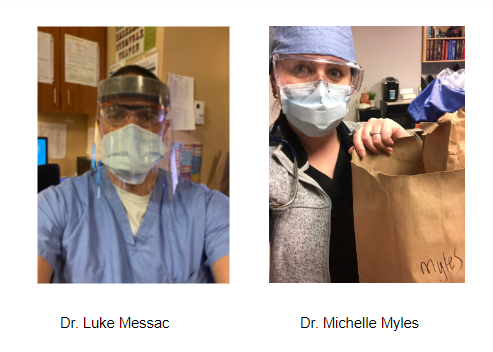 two doctors in masks