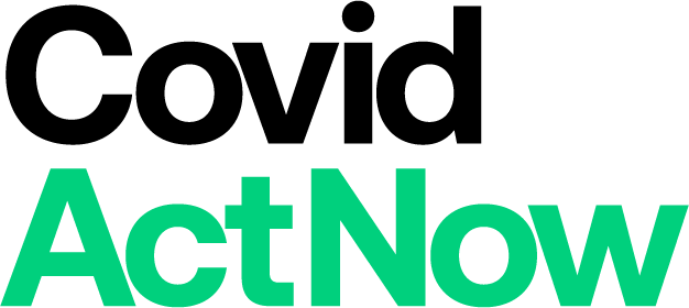 Covid Act Now logo, Get Us PPE partner