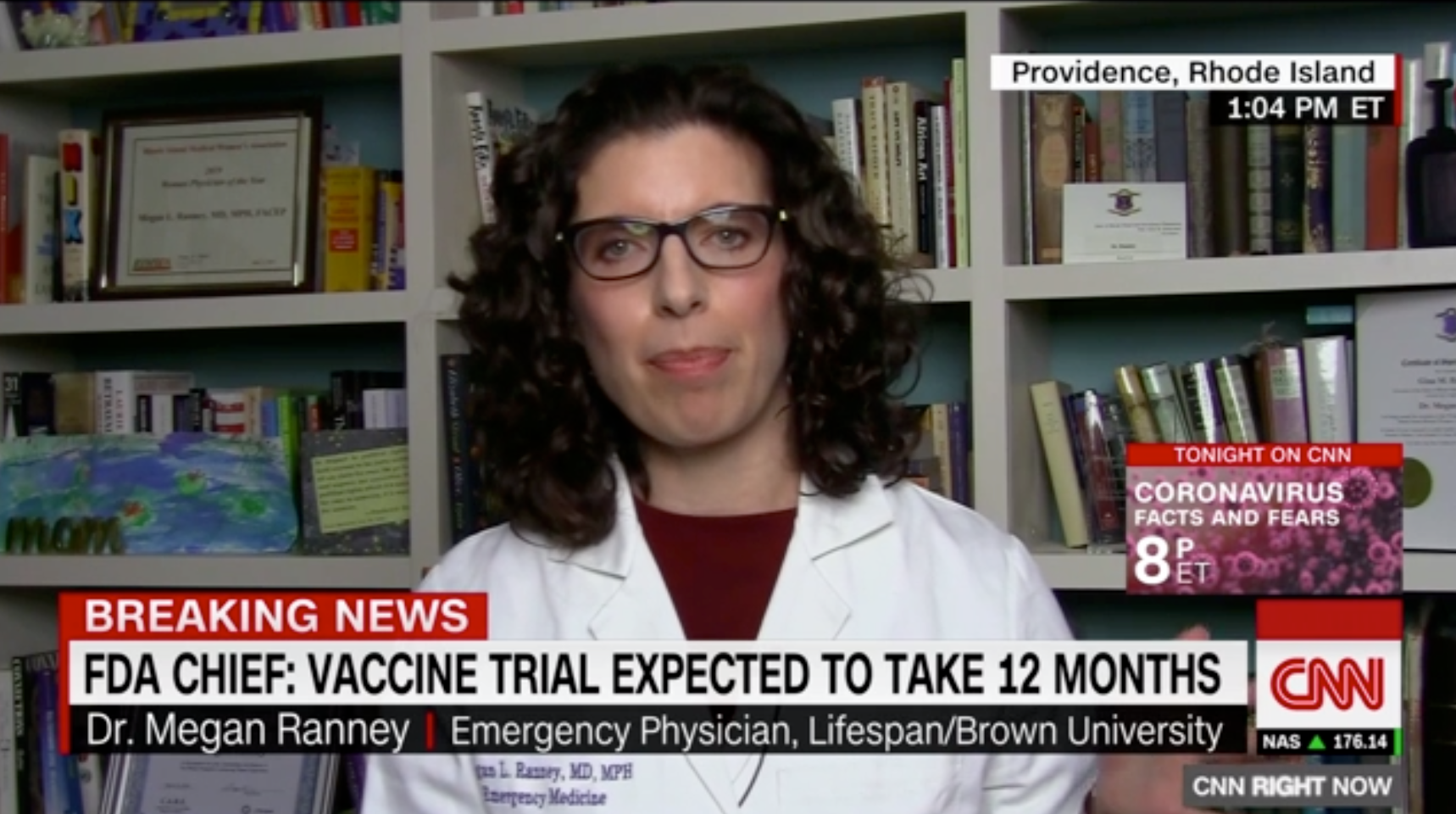 Dr. Megan Ranney appears on CNN to discuss the personal protective equipment shortage