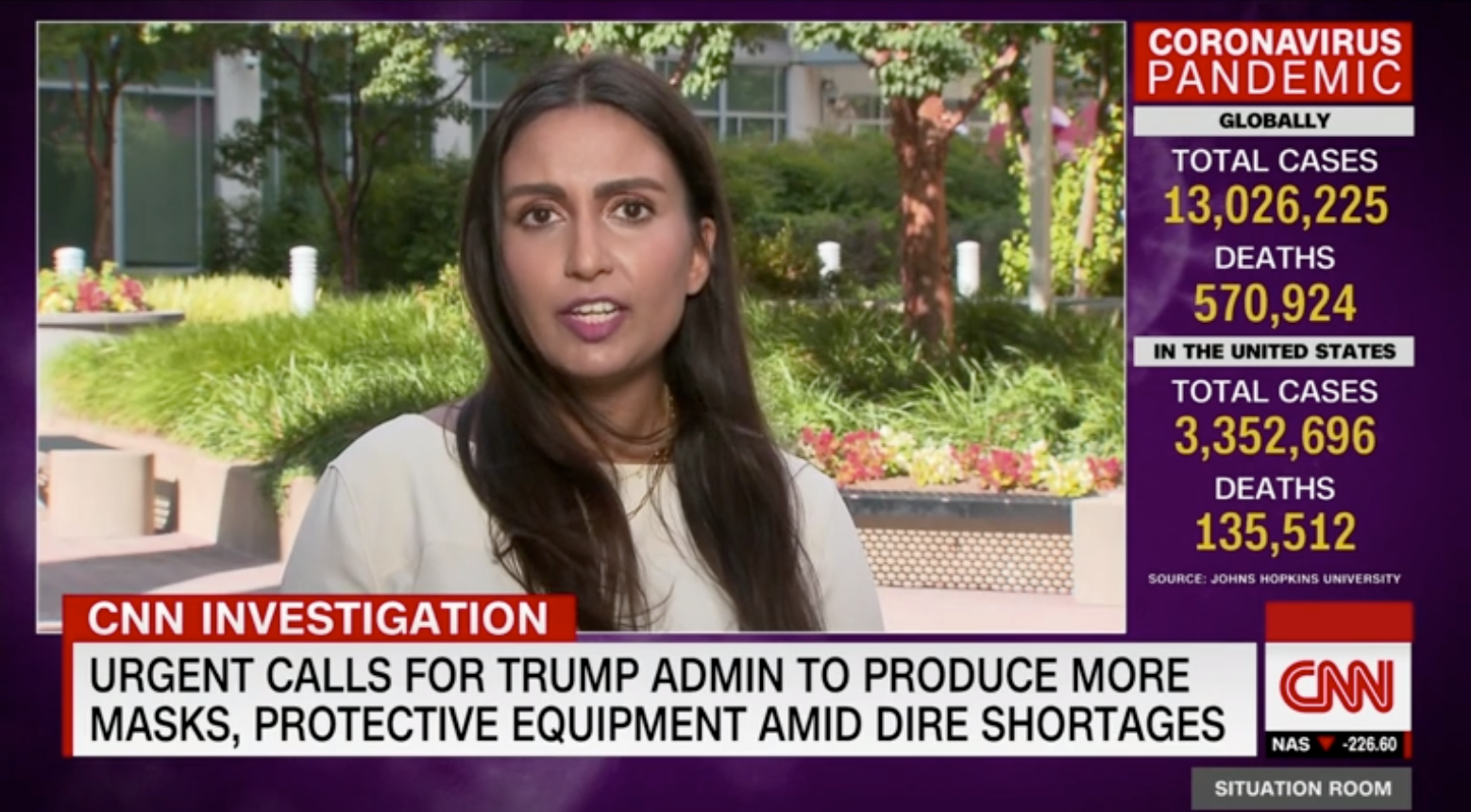 Dr. Shikha Gupta appears on CNN to discuss the dire need for more production of personal protective equipment