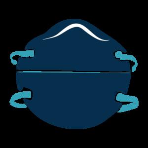 Filtering facepiece respirator (N95 respirator) illustration