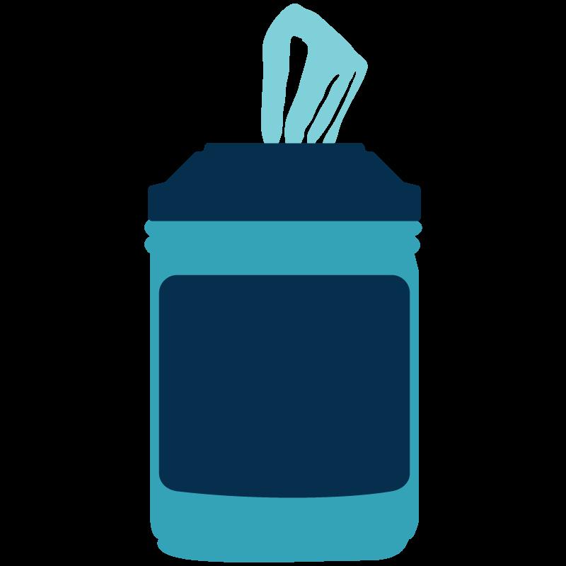 Ilustración de toallitas desinfectantes