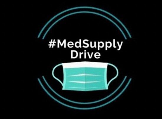 Logotipo de #MedSupplyDrive, socio de la coalición Get Us PPE