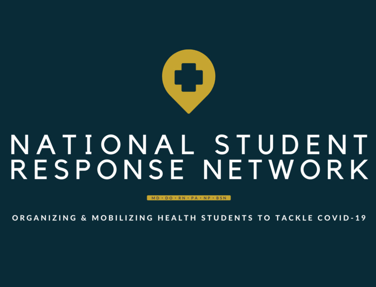 Nation Student Response Network, Organizing & mobilizing health students to tackle COVID-19, logo