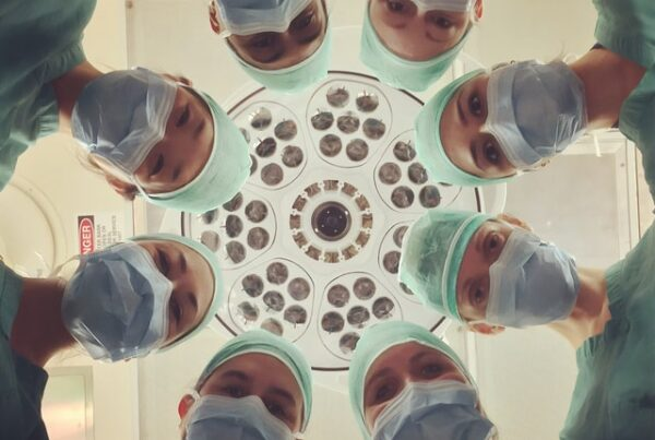 Group of health care professionals donned in PPE