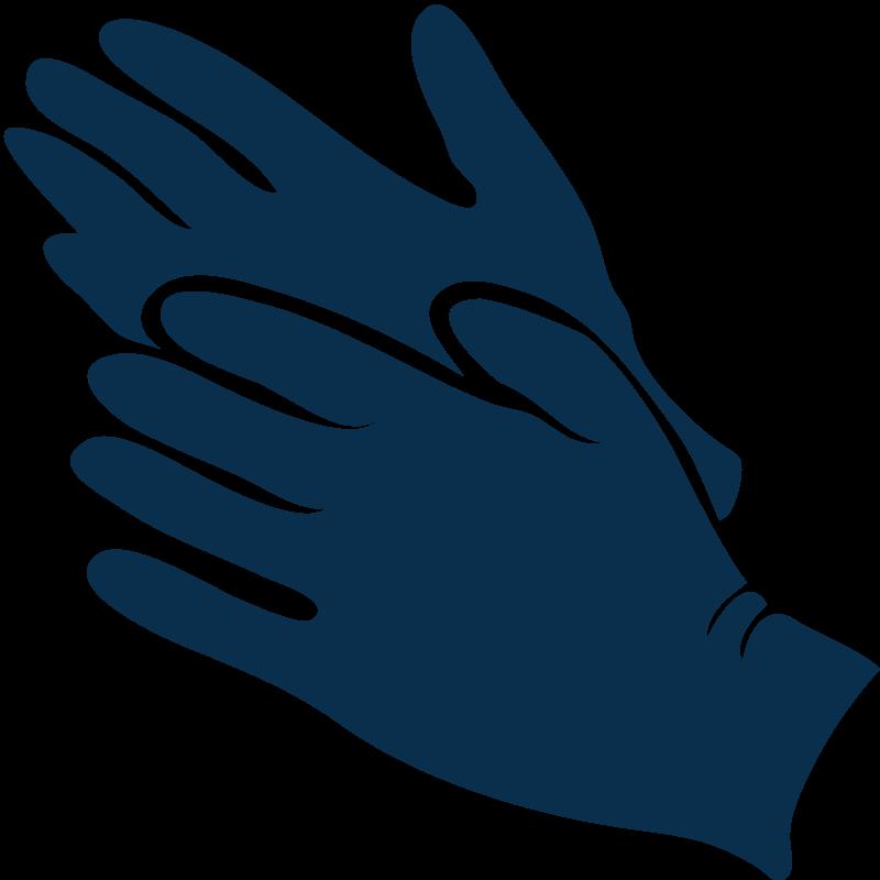 Ilustración de guantes de nitrilo Consíguenos un equipo de protección personal