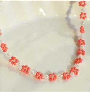 Daily Daisy white and orange bracelet