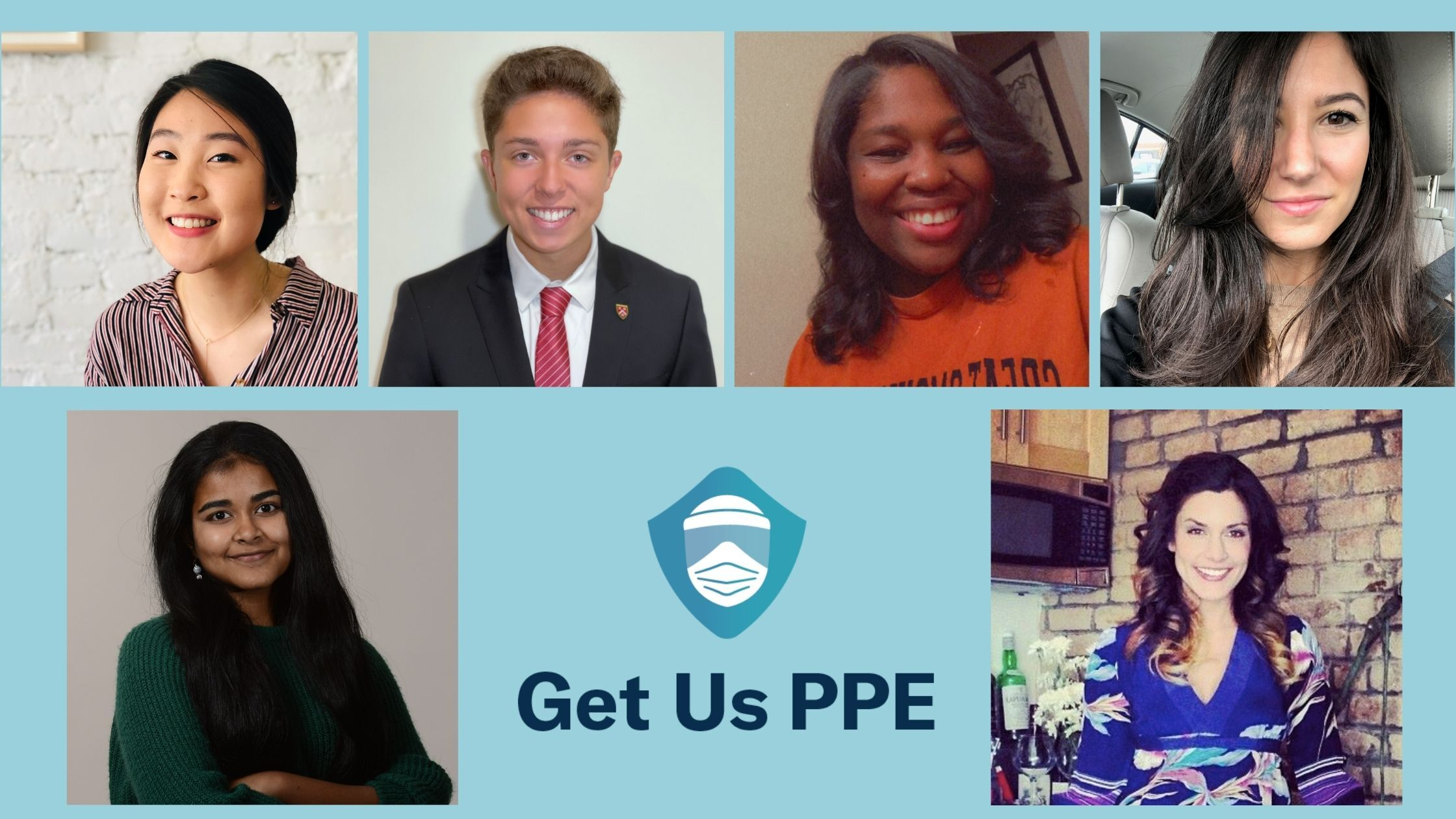 Photo Collage of Get Us PPE Volunteers